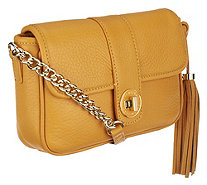 Isaac Mizrahi Live! Bridgehampton Pebble Leather Crossbody - A256002