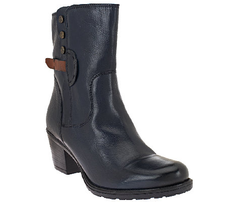Clarks Artisan Leather Ankle Boots - Maymie Skye