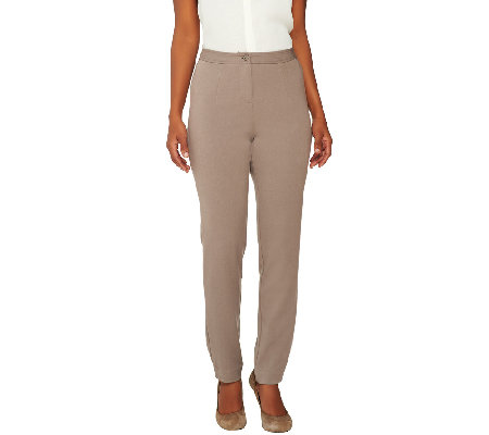 Linea by Louis Dell'Olio Stretch Woven Regular Slim Leg Pants
