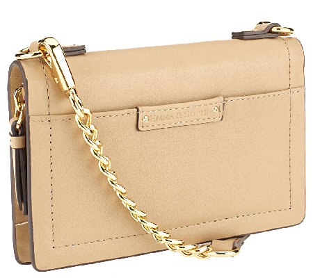 Emma & Sophia Leather Crossbody Phone Wallet with Gift Box