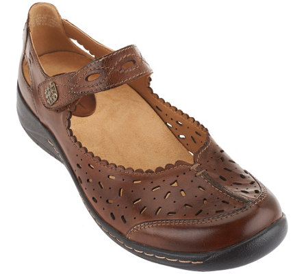 Earth Leather Perforated Slip-on Tanglewood