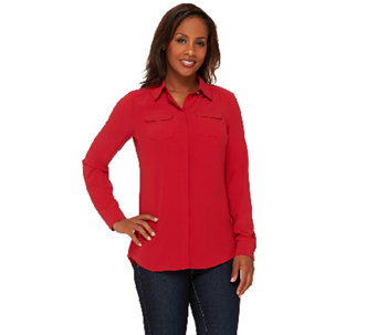 Liz Claiborne New York Heritage Collection Crepe Blouse - A267302