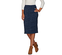 LOGO by Lori Goldstein Pull-On Sweater Knit Column Skirt - A267902