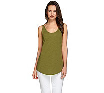 C. Wonder Essentials Scoop Neck Curved Hem Slub Knit Tank - A275102