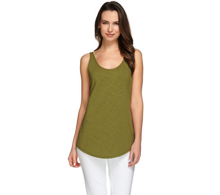 C. Wonder Essentials Scoop Neck Curved Hem Slub Knit Tank