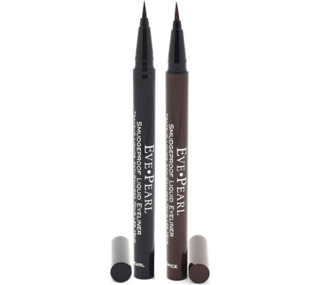 EVE PEARL Set of 2 Smudgeproof Liquid Liner Set