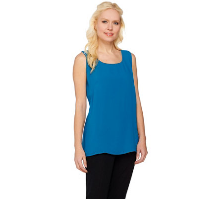 Joan Rivers Double Layer Soft Crepe Tank