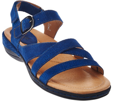 Earth Leather Multi-strap Sandals - Aster