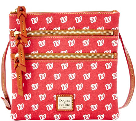 Dooney & Bourke MLB Nationals Triple Zip Crossbody