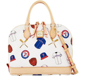 Dooney & Bourke MLB Rangers Zip Zip Satchel - A280102