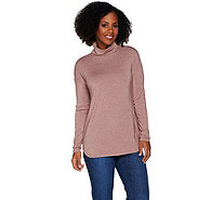 H by Halston Essentials Long Sleeve Knit Turtleneck - A280402