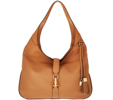 """As Is"" G.I.L.I Classic Leather Hobo - Verona"