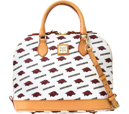 Dooney & Bourke NCAA University of Arkansas Zip Zip Satchel