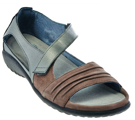 Naot Nubuck Leather Closed Back Sandals - Papaki