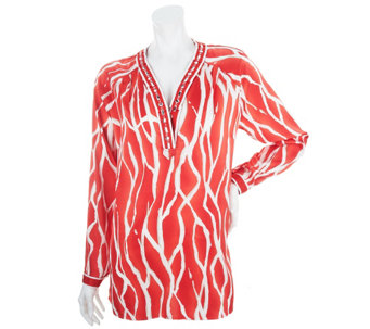 """As Is"" Status by Star Jones Printed Tunic with Embellishment - A287202"