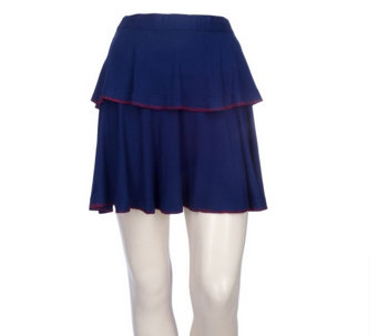 """As Is"" Twist by Chrisitan Francis Roth Jersey Knit Tiered Skirt - A287402"