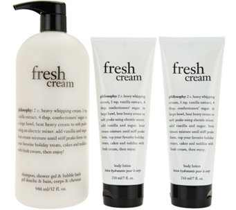philosophy super-size shower gel & duo of body lotion - A288702