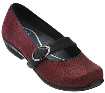 """As Is"" Dansko Leather Mary Janes with Adjustable Strap - Orla - A288902"