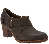 Clarks Leather Side Zip Shootie- Sashlin Fiona - A295302