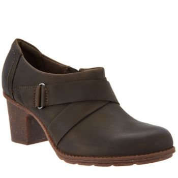 Clarks Leather Side Zip Shootie- Sashlin Fiona