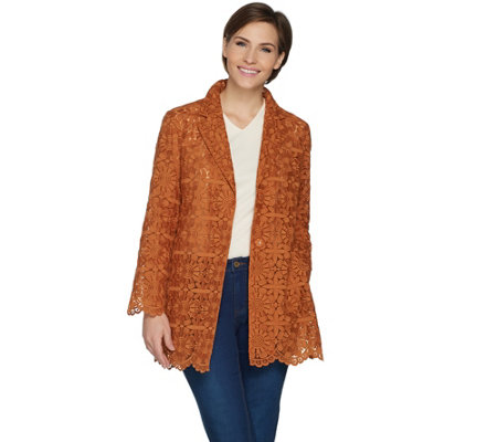 GRAVER Susan Graver Woven Embroidered Jacket