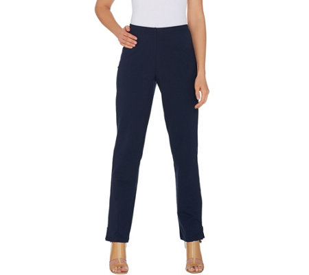 Women with Control Tall Convertible Pants w/ Zipper Detail