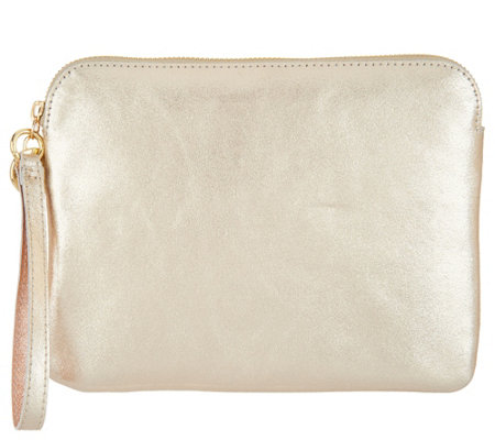 G.I.L.I. Unlined Leather Flat Wristlet