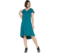 H by Halston Regular Knit Crepe Dress with Cutout Detail - A308102