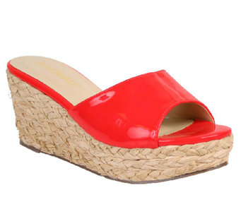 Nomad Wide Band Platform Slide Sandals - Havana - A333202