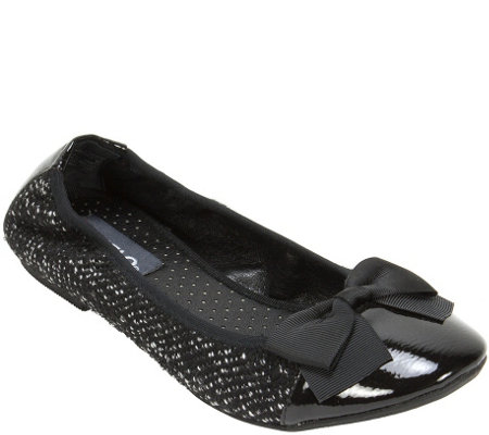 Rialto Fabric Ballet Flat with Elastic Back - Sania