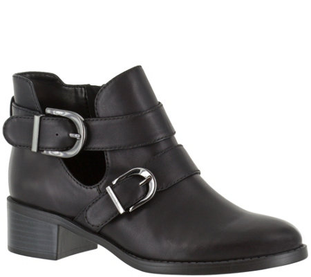 Easy Street Moto Ankle Boots - Badge