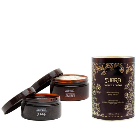 JUARA Coffee & Creme Skin Smoothing Ritual Set