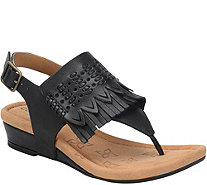 Comfortiva Leather Wedge Sandals - Shayla - A358102