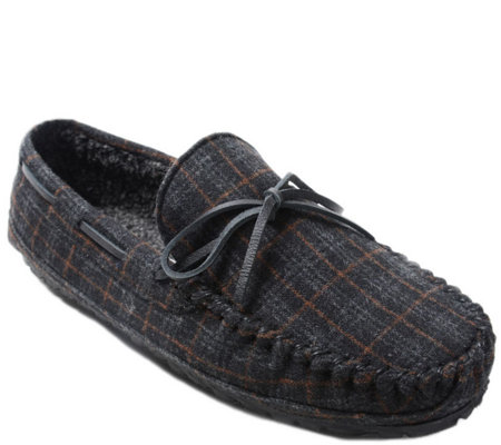 Minnetonka Men's Plaid Slippers - Plaid Casey