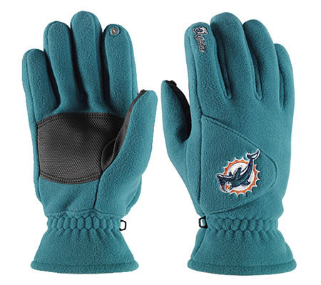 NFL Miami Dolphins Winter Gloves — QVC.com