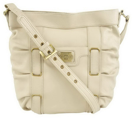 Stone Mountain Leather Bucket Bag with Adjustable Strap