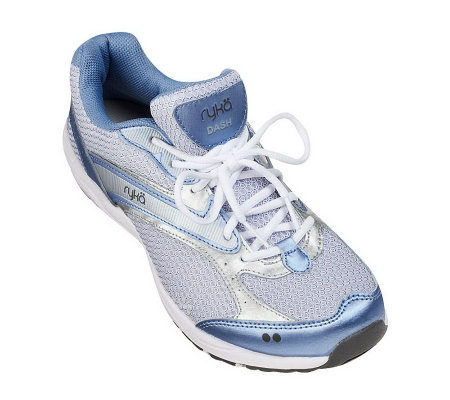 Ryka Leather & Mesh Lace-up Fitness Sneakers