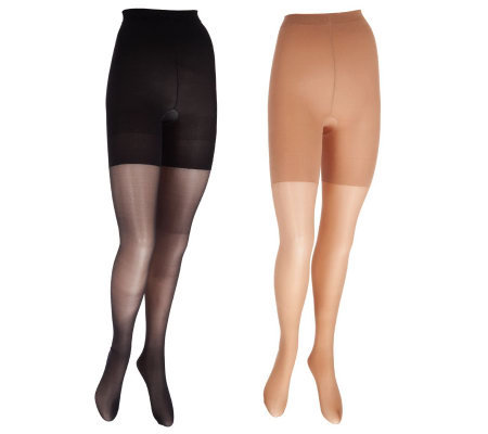 Legacy Set of 2 Pair Long Lasting Lycra Fusion Sheer Pantyhose