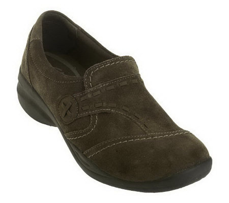 Clarks In-Motion Camp Leather Slip-on Walking Shoes