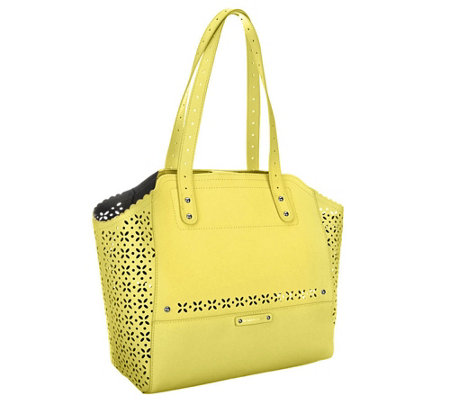 B. Makowsky Tessa Perforated Saffiano Leather Tote