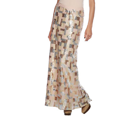 Styled by Joe Zee Sequin Ankle Length Skirt