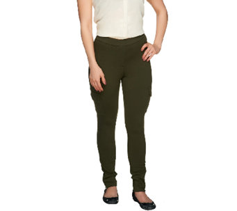 Lisa Rinna Collection Cargo Pocket Leggings with Ankle Zippers - A255903