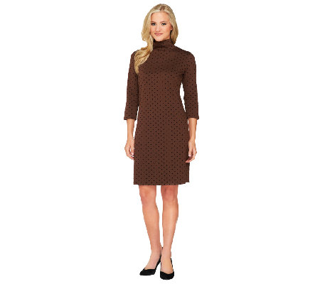 Liz Claiborne New York Flocked Dot Ponte Knit Dress