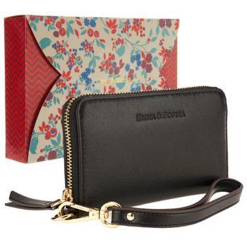 Emma & Sophia Leather Zip Wristlet
