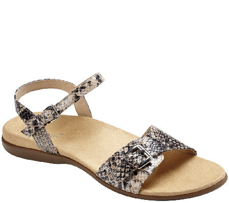 Vionic Orthotic Leather Ankle Strap Sandals - Alita