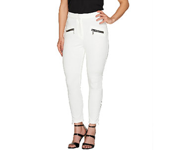 SA by Seth Aaron Regular Slim Leg Pants with Zipper Detail - A265203
