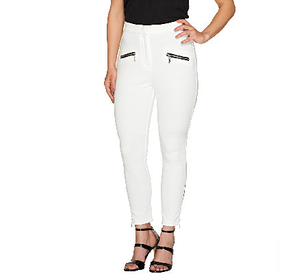 SA by Seth Aaron Regular Slim Leg Pants with Zipper Detail