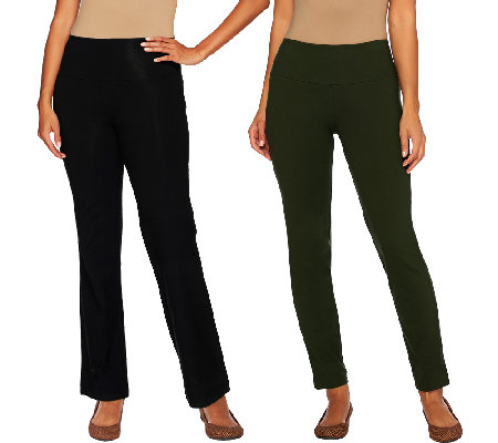 Women with Control Regular Tummy Control Boot Cut and Ankle Pants Set