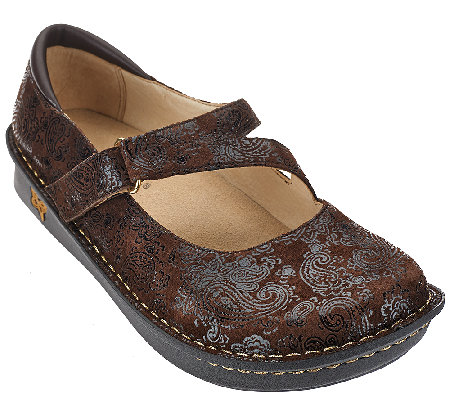 Alegria Leather Mary Janes Wide Width - Jill