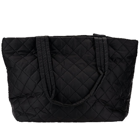 Susan Graver Quilted Tote Bag with Zip Closure